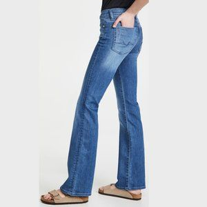 7 for All Mankind Rocker Bootcut Blue Jeans 29